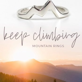 sterling silver mountain peak ring