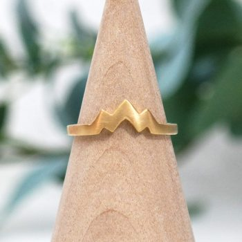 Three Peak Mountain Ring 14k Gold