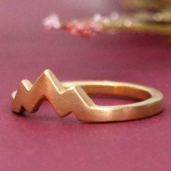 Three Peak Gold Mountain ring