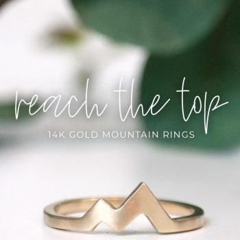 14k gold mountain peak ring