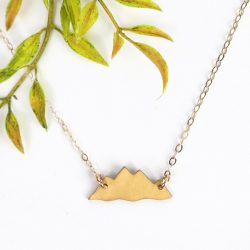 Gold mountain necklace