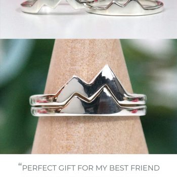 best friend mountain rings sterling silver stacking set customer review