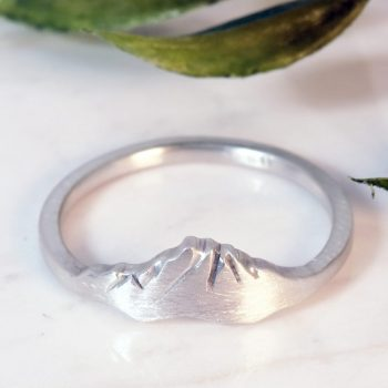 Custom Mountain Ring Washington