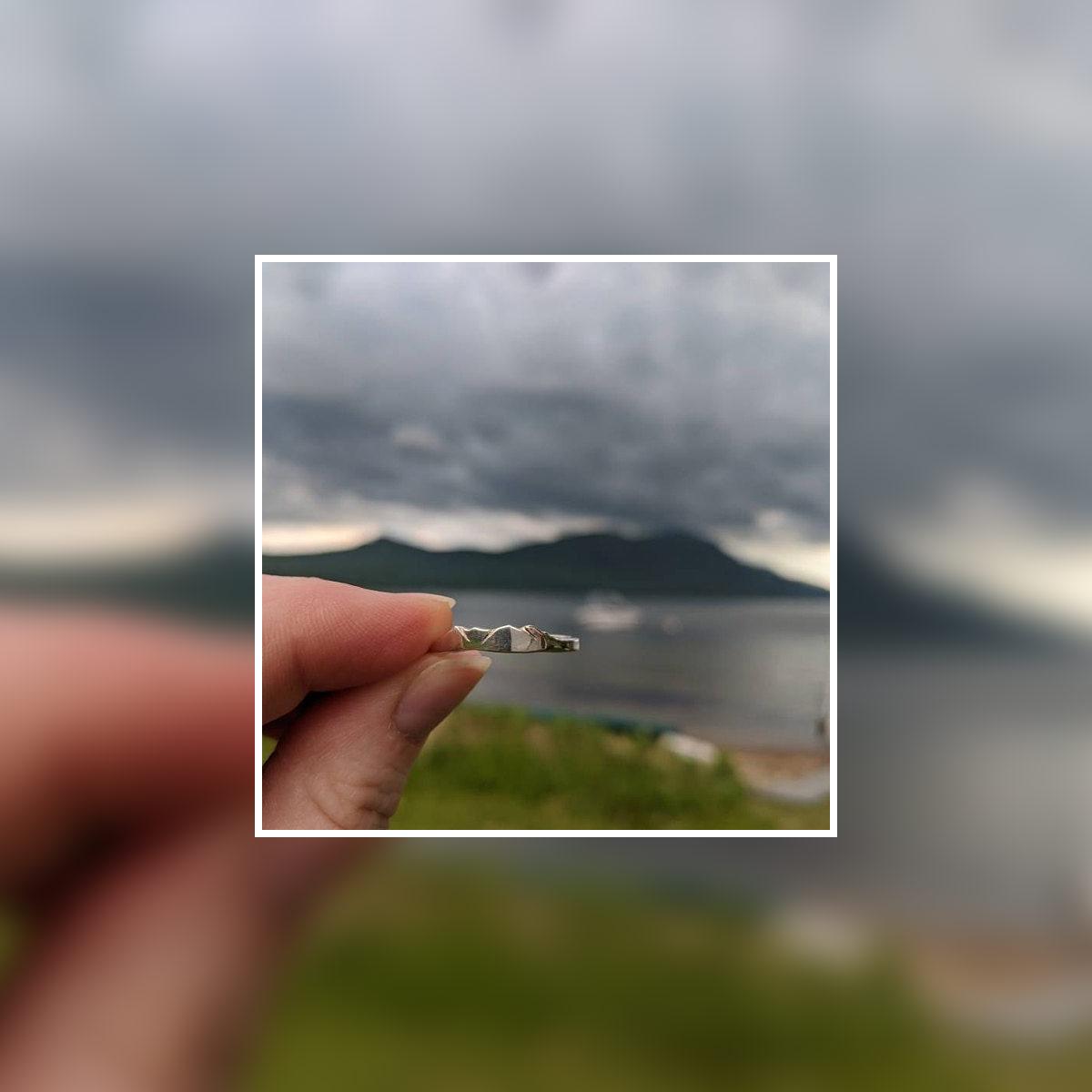 custom mountain ring of lake george