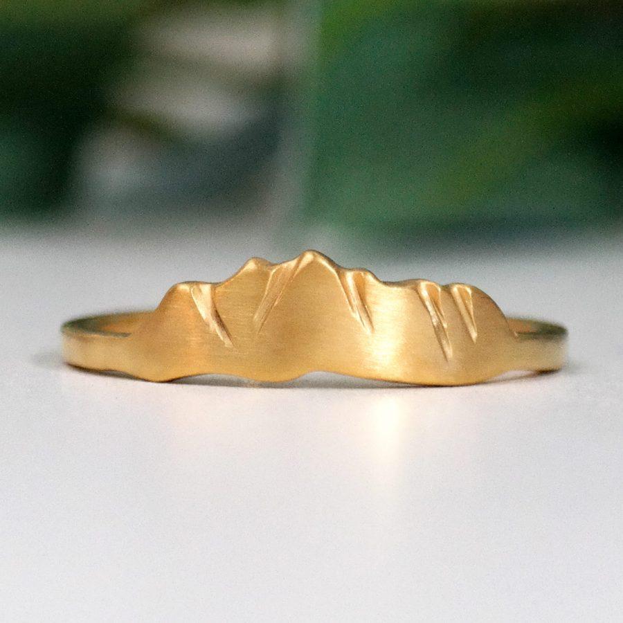 14k gold custom mountain ring of pagosa springs