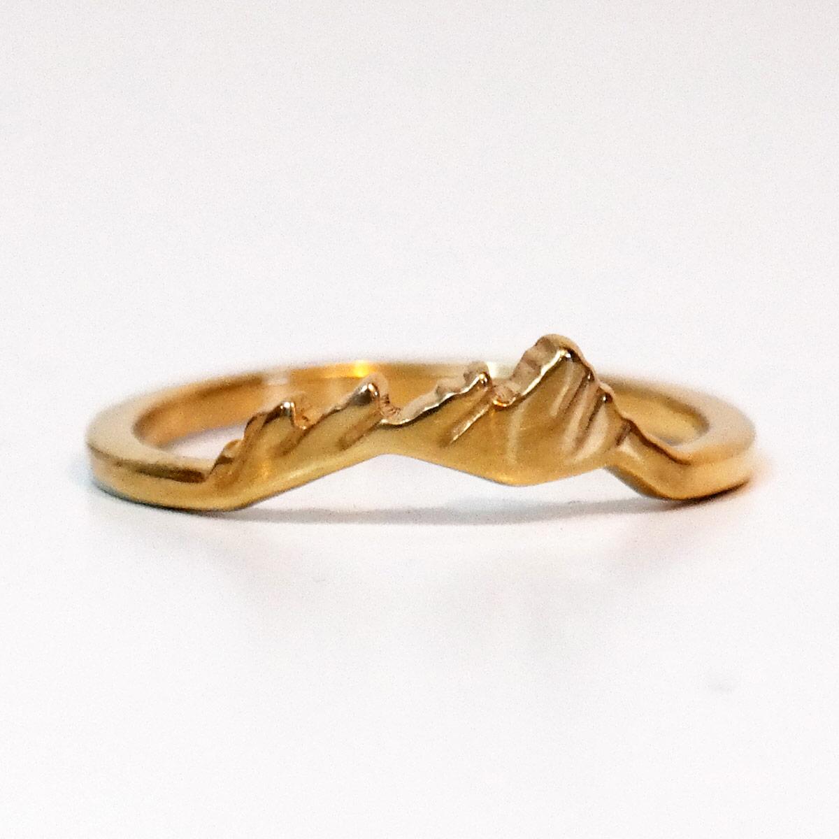 14k gold custom flatirons ring
