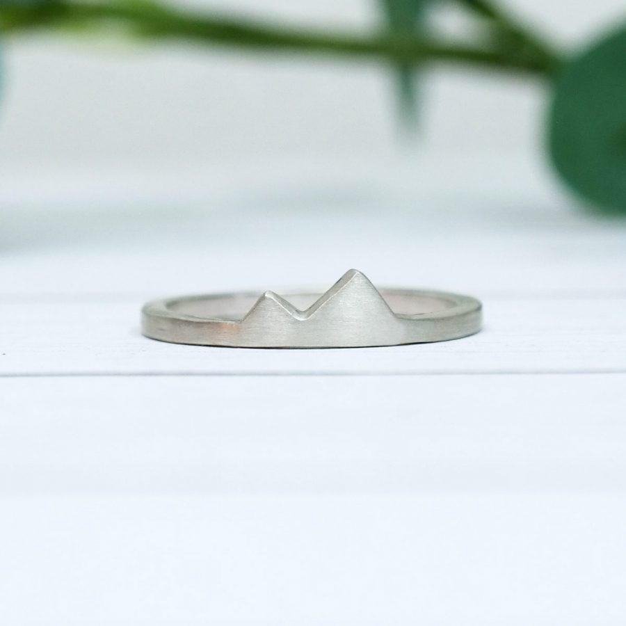 Sterling Silver Tiny Mountain Peak Ring