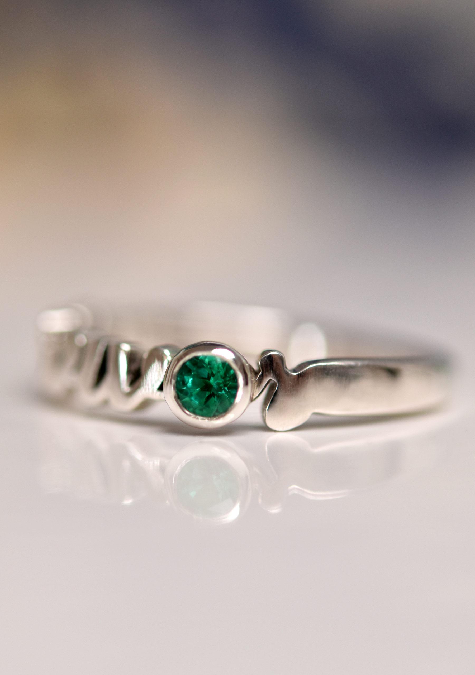 Gemstone Cancer Survivor Ring
