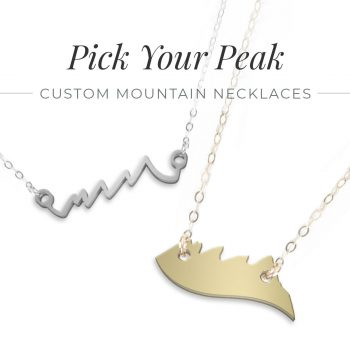 Custom Mountain Peak Necklace Sterling Silver