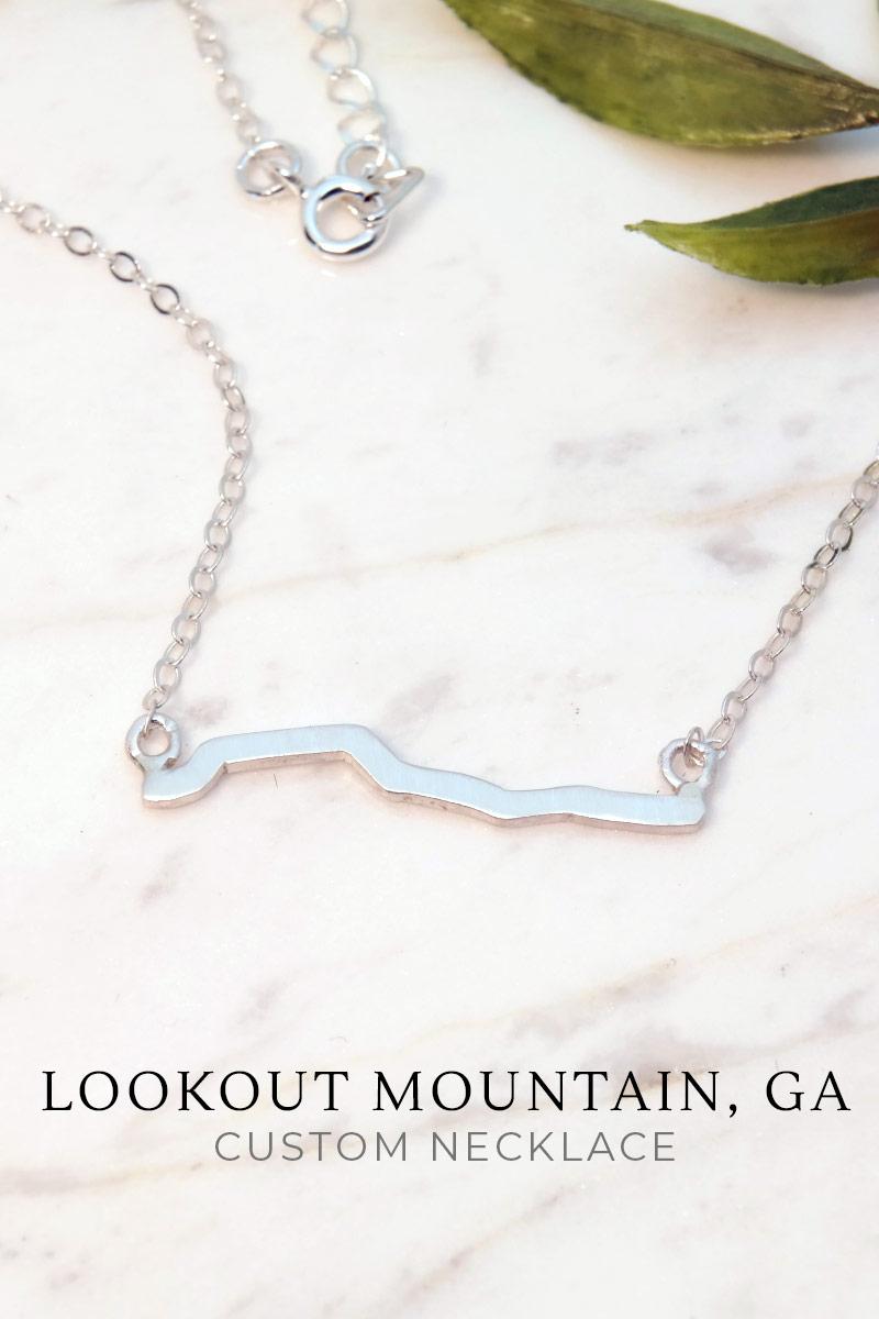 Custom Mountain Peak Necklace Sterling Silver