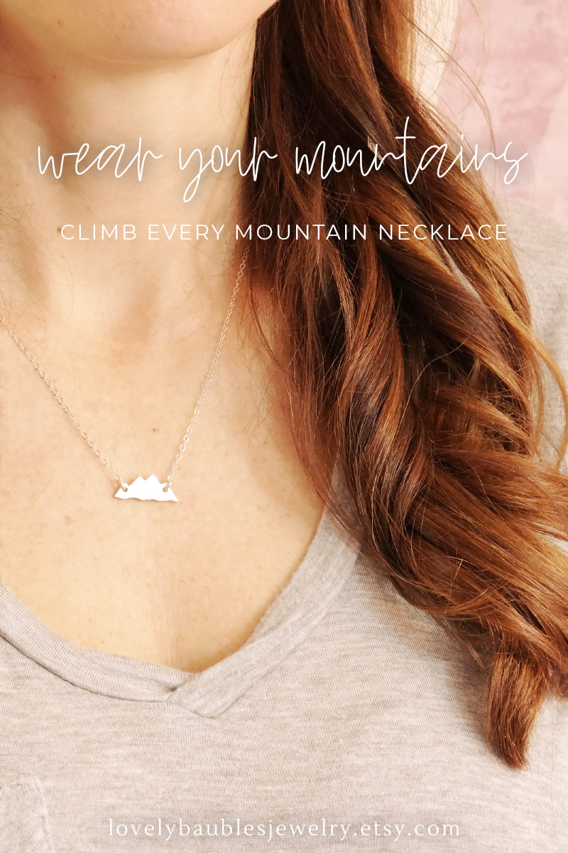 Mountain Peak Necklace Sterling Silver