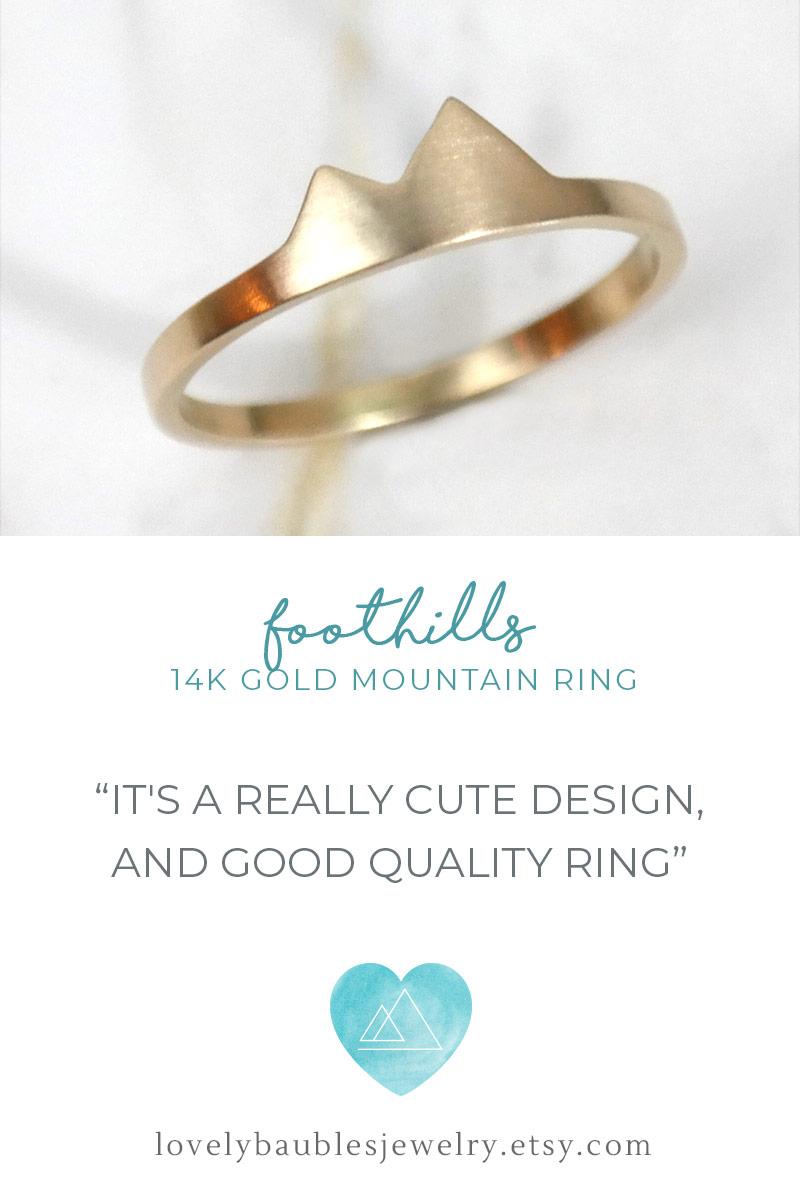 Foothills Mountain Ring 14k
