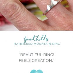 Hammered Foothills Mountain Ring