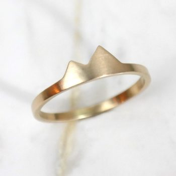 Foothills Mountain Ring 14k Gold