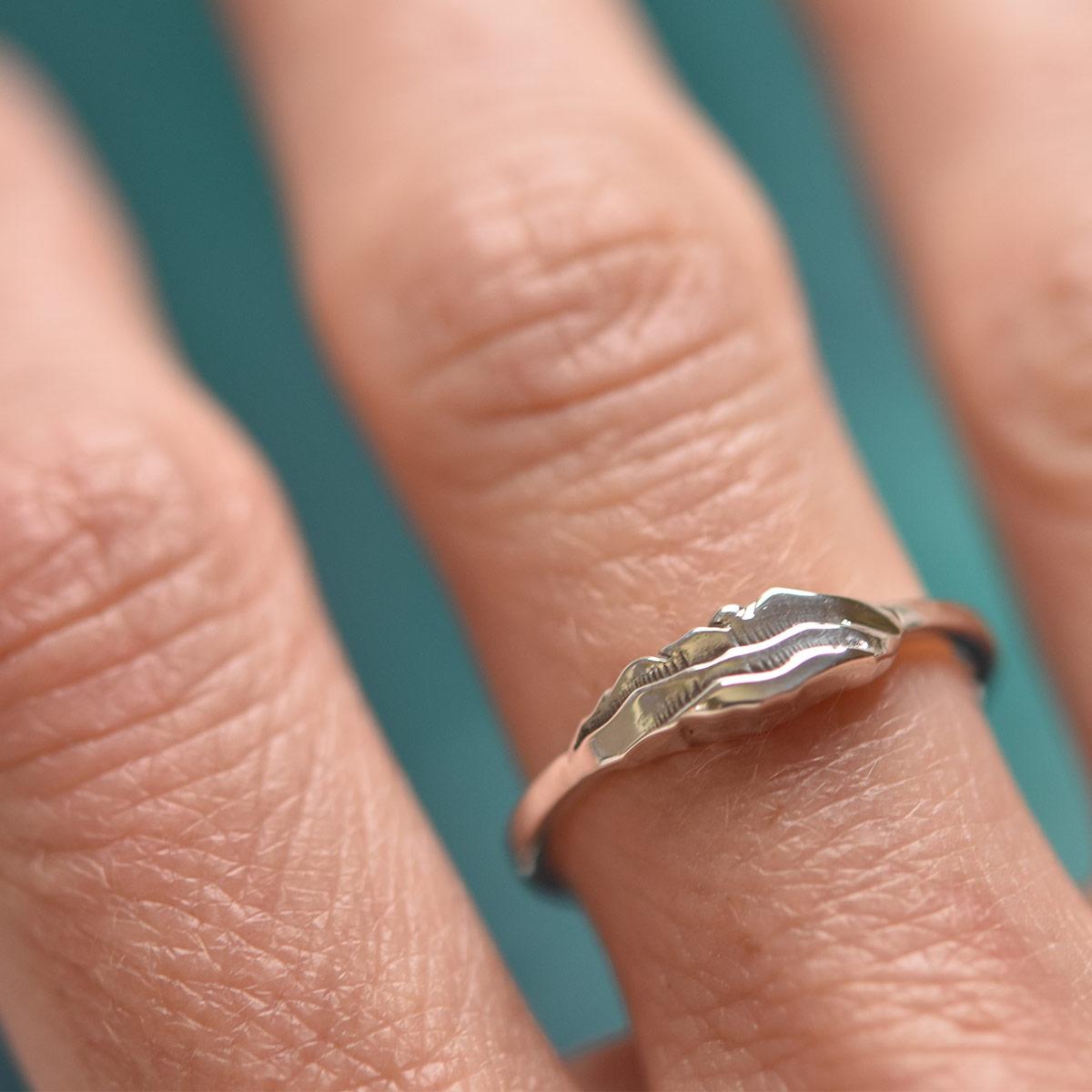 layered custom mountain ring colorado