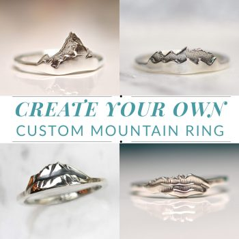 Create Your Own Custom Sterling Silver Mountain Ring