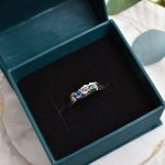 custom gemstone mountain ring