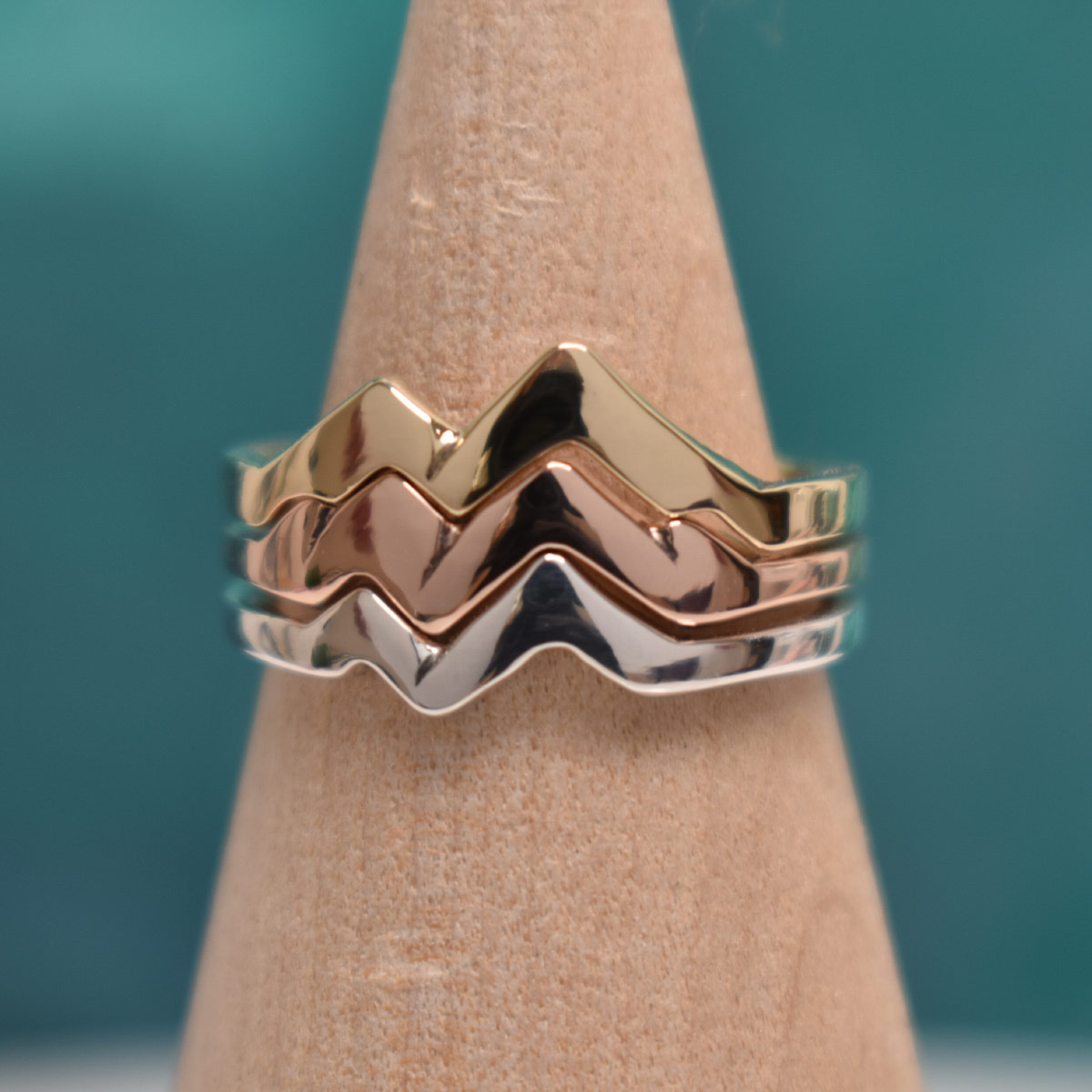 custom mountain wedding ring