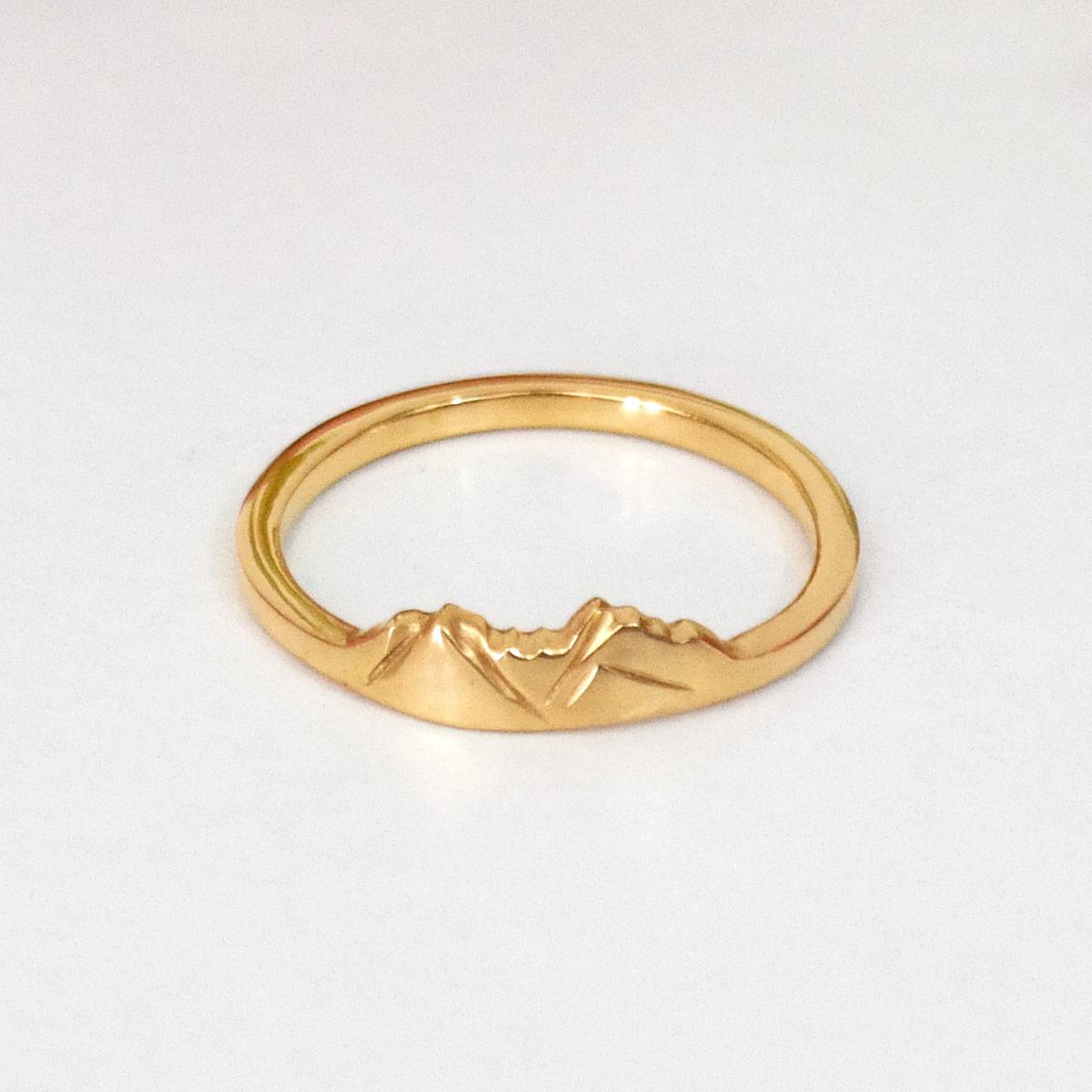 14k gold custom mountain ring of vail gore mountain range