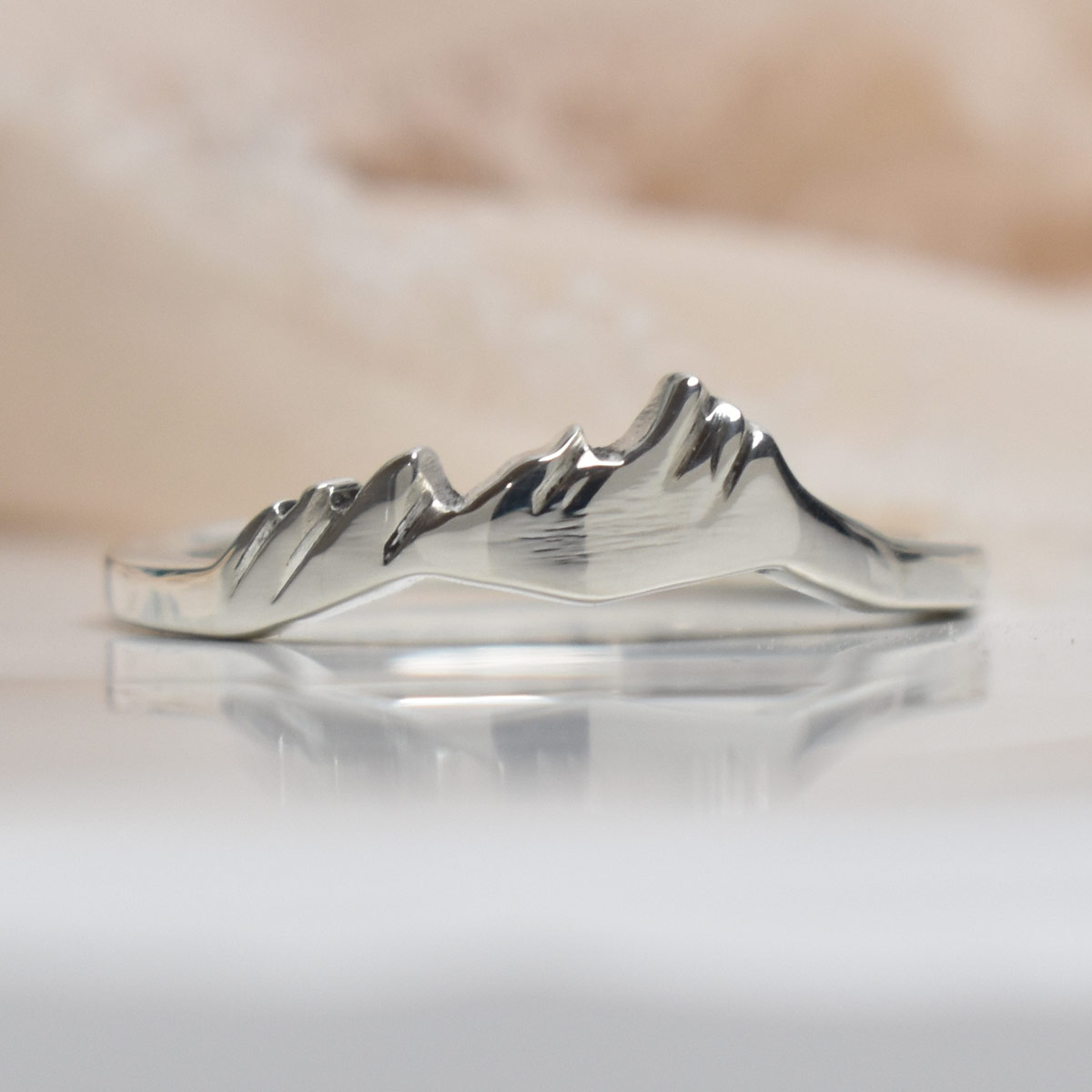 Flatirons Custom Sterling Silver Mountain Ring