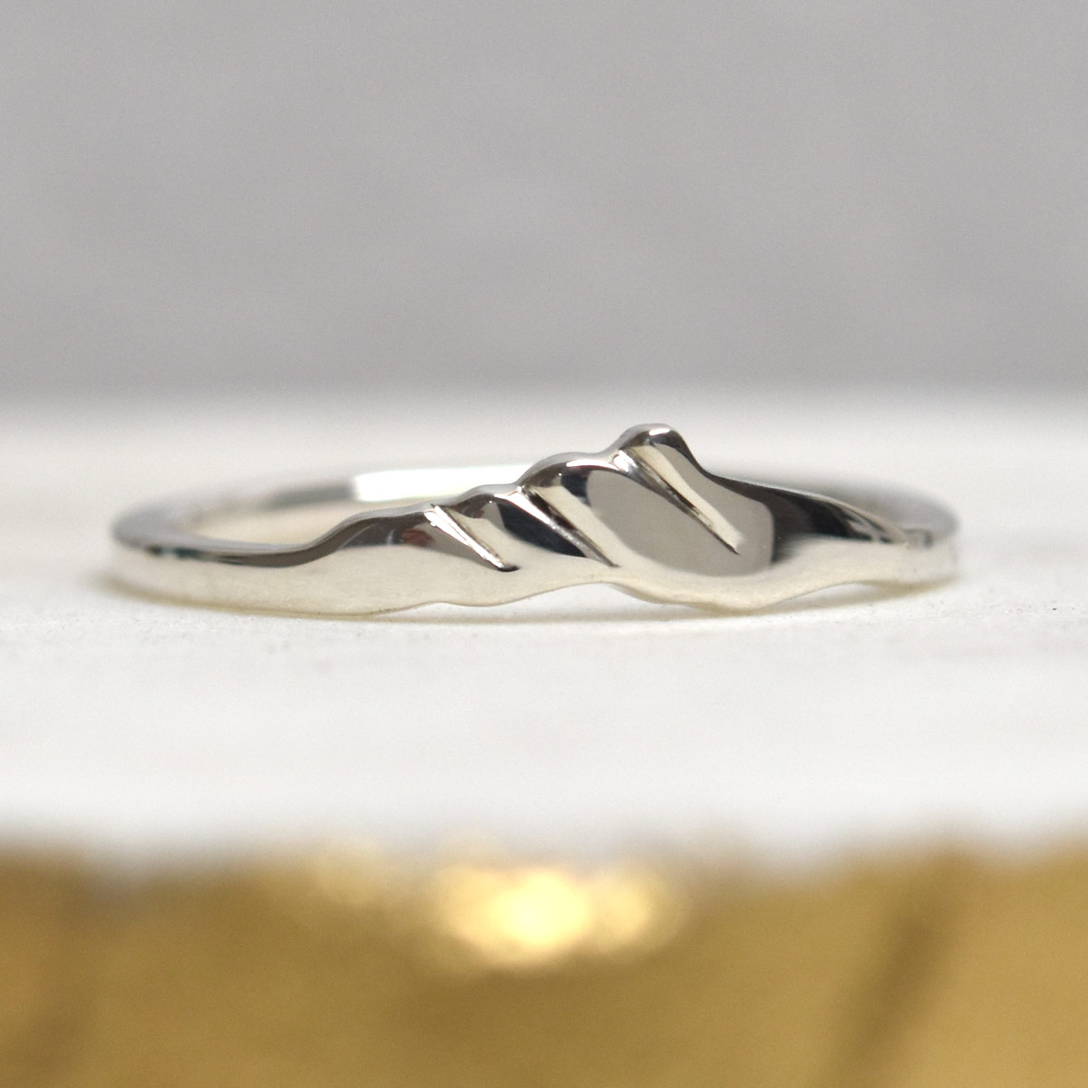 camels hump vermont sterling silver mountain ring