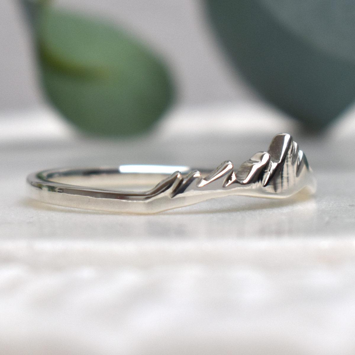 Flatirons Boulder Sterling Silver Custom Mountain Ring