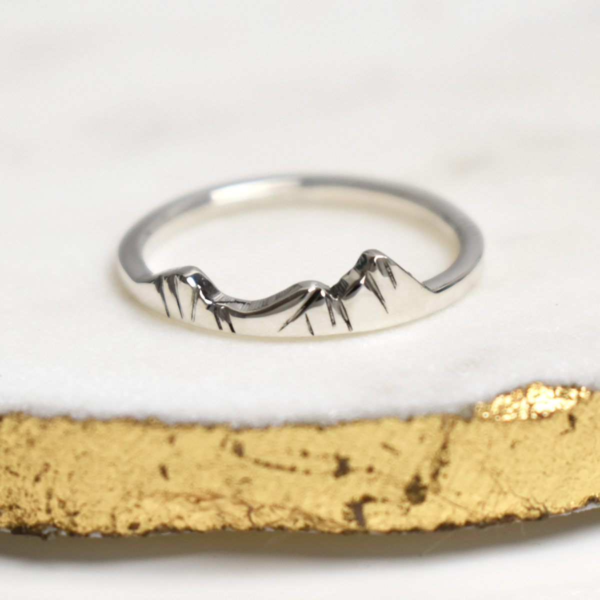 Helvellyn Mountain England Sterling Silver Custom Mountain Ring