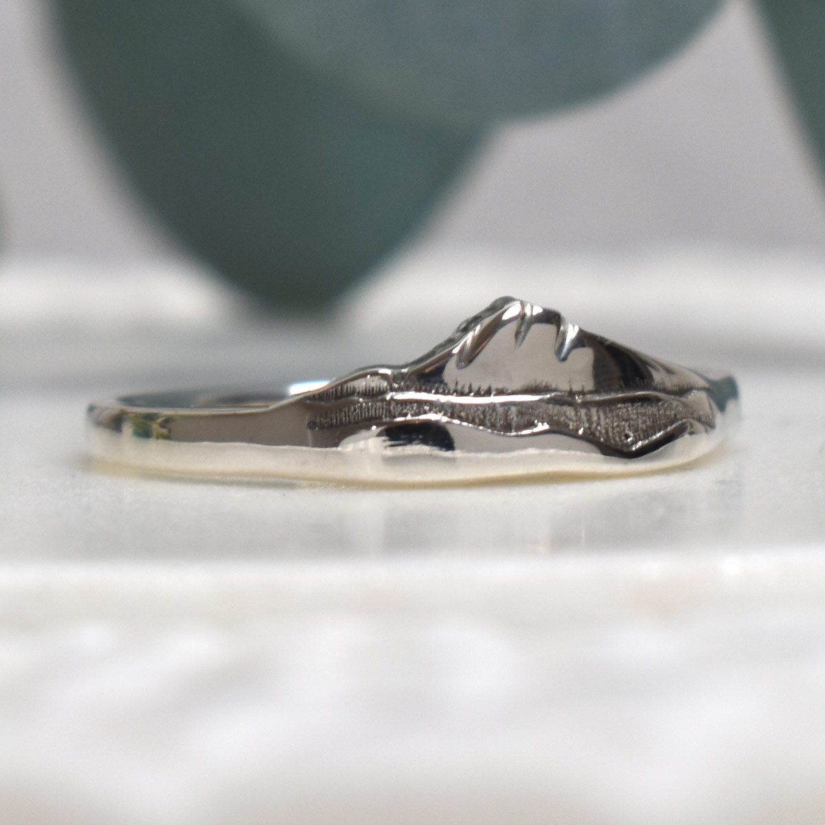 Mt Hood Sterling Silver Layered Custom Mountain Ring